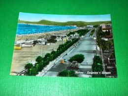 Cartolina Riccione - Lungomare E Spiaggia 1960 Ca - Rimini