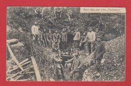 """Beim Bau Der Villa  """" Fuchsloch """"  --  2 Wurth Landw Div 13 Frv 1916  -  Environ De Verdun - War 1914-18"""