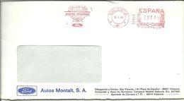 FRANQUEO MECANICO 1986  VALENCIA - Marcofilia - EMA ( Maquina De Huellas A Franquear)