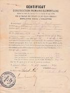1889 - SAINT-DIE (88) - Certificat Délivré SUR LE TRAVAIL DES ENFANTS DANS L'INDUSTRIE - - Documents Historiques