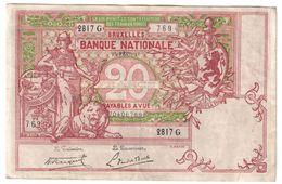 Belgium 20 Francs 25/02/1919  .J. - [ 2] 1831-... : Regno Del Belgio
