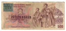 Czech Republic 500 Korun 1993 Provisional Issue .J. - Czech Republic