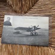 Aviation : L' Aviateur Obre Et Son Monoplan Caudron Freres - Aviateurs