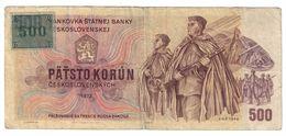 Czech Republic 500 Korun 1993 Provisional Issue .J. - Repubblica Ceca