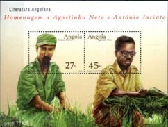 ANGOLA, 2003, HOMAGE TO AGOSTINHO NETO AND ANTONIO JACINTO, CE#B.104, SS MNH - Angola