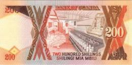 UGANDA P. 32b 200 S 1998 UNC - Ouganda