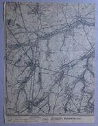 CARTE D ETAT MAJOR 40/8 De 1903 EGHEZEE RAMILLIES LEUZE HANRET NOVILLE-LES-BOIS WAYA HEMPTINNE BRANCHON TAVIERS S654 - Eghezée