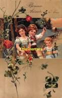 CPA CARTE EN RELIEF GAUFREE FILLE   EMBOSSED CARD GIRL PFB 6120 6123 - Ritratti