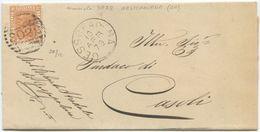 1879 EFFIGIE C. 20 PIEGO COMPLETO 10.4.79 GESSOPALENA (CHIETI)  NUMERALE SBARRE A CASOLI OTTIMA  QUALITÀ (Z25) - 1861-78 Vittorio Emanuele II