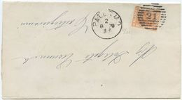 1879 EFFIGIE C. 20 COPERTA 2.8.79)  PALERMO NUMERALE SBARRE A CASTROGIOVANNI OTTIMA  QUALITÀ (Z27) - 1861-78 Vittorio Emanuele II