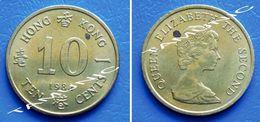 HONG KONG 10 (TEN) Cents 1982 QUEEN ELIZABETH II - Hong Kong