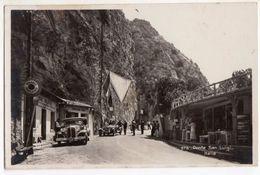 < Automobile Auto Voiture Car >> Alfa Romeo 6C 1750 Zagato, Chrysler 1931, Ponte San Luigi, Menton Douane Frantière - Passenger Cars