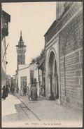 Rue De La Kasbah, Tunis, Tunisie, C.1910 - EM Postcard CPA - Tunisia