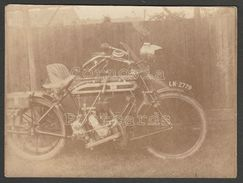 Coventry Premier 500cc Motorcycle & Sidecar, 1910s - Two Photographs - Photographs