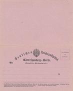 DEUTSCHES REICH - Ab 1.1.1872 , Correspondenzkarte , Formblatt - Bezahlte Rückantwort - Cartas