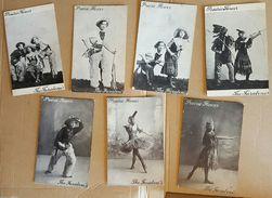 The Faraboni's Wild West Dance Show 'Prairie Flower', C1905-10 - Seven Postcards - Dance