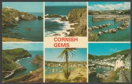 Multiview - Cornish Gems, C.1970s - Jarrold Postcard - England