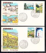 ANDORRA ESPAÑOLA 1972. FDC SOBRE PRIMER DIA. PAISAJES  EDIFIL Nº 73/75  CECI 1. 63 - Cartas
