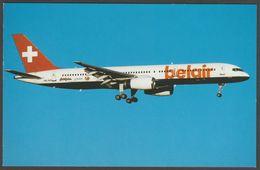 Belair Airlines Boeing 757-2G5 HB-IHS At Zürich - Bucher & Co Postcard - 1946-....: Moderne