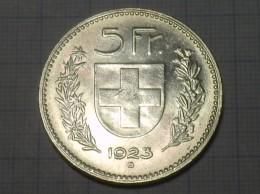 5 Schweizer Franken  1923  Silber - Suiza