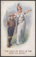 Boy Scout & Britannia, The Path To Glory, C.1916 - Mack Postcard - Scouting