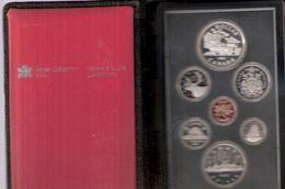 CANADA PROOFSET MUNTEN 1981 MET ZILVEREN DOLLAR TREIN - WITH SILVER DOLLAR TRAIN - Canada