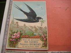 ZWALUW Vogel Birds Oiseau Swallow Schwalbe Hirondelle Rondini EAU DE MELISSE De CARMES DUMONT Litho Bataille VINCENNES - Animaux