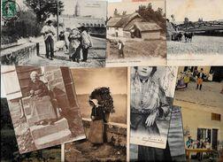 Lot 407 De 10 CPA Divers Métier Campagne Ferme Folklore Déstockage Pour Revendeurs Ou Collectionneurs - Postcards