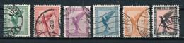 Deutsches Reich Mi. 378 - 382 Gest. Flugpostmarken Adler - Used Stamps