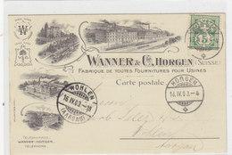 Horgen - Wanner & Cie - Fett-& Oel-Fabrik - 1903 - Top     (P-57-10828) - ZH Zurich