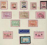 Inde Néerlandaise à La Page Avec Charnière Poste Aérienne - Nederlands-Indië