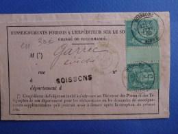 E11-Soissons Aisne 5c Avec Interpanneau Pas Courant Sur Lettre - 1877-1920: Semi Modern Period