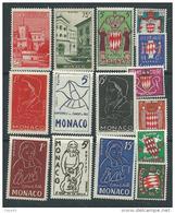 Monaco Année Complète Timbres Poste  1954 Du N° 397 Au N° 411 XX, Les 15  Valeurs Sans Charnière TB - Monaco