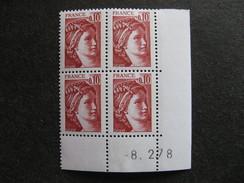 A). TB Bloc De 4 Coin Daté:  08.02.1978 Du N° 1965, Neuf XX . - 1970-1979