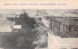 "D6040 ""SRI LANKA - COLOMBO (CEYLON) - HARBOUR- QUEEN STREET -GOVERNAMENT HOUSE - POST OFFICE""  ANIMATA - CART NON SPED. - Sri Lanka (Ceylon)"