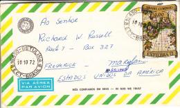 Brazil Aerogram 1972 Brazil To USA Franked With Scott #1240 - Brésil