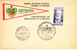 Brazil Cover 1954 Opening Day Getulina Philatelic Exposition Franked Scott #809 - Brésil