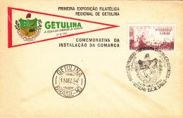 Brazil Cover 1954 Opening Day Getulina Philatelic Exposition Franked Scott #808 - Brésil