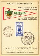 Brazil Entrance Ticket 1954 Opening Day Getulina Philatelic Exposition Franked Scott #806 - Brésil