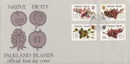Falkland Islands FDC 1983 Scott #379-#382 Set Of 4 Local Fruits - Falkland