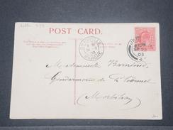 GRANDE BRETAGNE - Oblitération De Jersey Et De Granville Sur Carte Postale En 1903 - L 9147 - Marcofilie