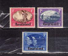 BASUTOLAND 1945 EVENTS VICTORY VITTORIA COMPLETE SET SERIE COMPLETA MNH - Basutoland (1933-1966)