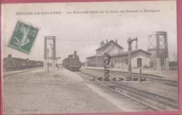 45 - BEAUNE LA ROLANDE--La Nouvelle Gare De La Ligne De Beaune A Etampes--Train----animé - Beaune-la-Rolande