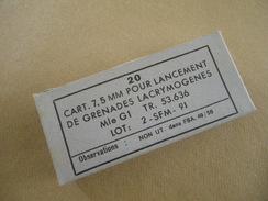 Boîte De 20 Cartouches à Blanc En Aluminium Cal 7,5 MAS 36 - Equipement