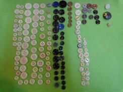 Lot De Boutons Anciens (+120g) Verre Lot 1 - Buttons