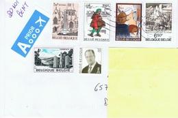 B+ Belgien 1974 1976 1981 1982 Mi 1787 1882 2078 2111 2124 Gemälde, Beveren, Postbote Auf Brief - Belgique