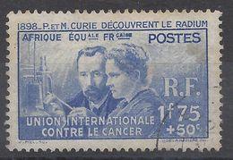 A.E.F. N° 63 - Oblitéré -Pierre Et Marie Curie - Usados