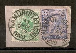 NAMUR (STATION) 1889 Sur Combinaison à 30C. - 1884-1891 Léopold II