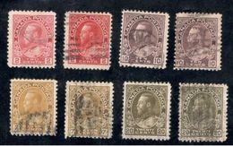 Canada1911-25:Lot Of 8used With Varieties (Cat.Value Minimum $25) - 1911-1935 Règne De George V