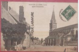 45 - OUZOUER SUR LOIRE--Eglise Et Grande Rue--animé - Ouzouer Sur Loire